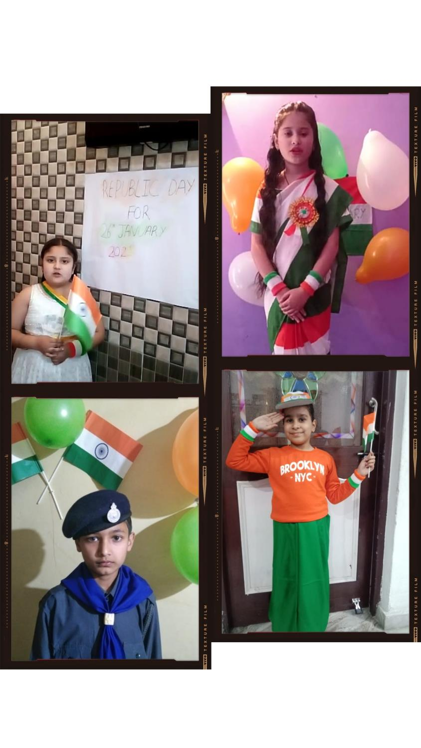 Online Music competition on the occasion of Republic Day for Class 3