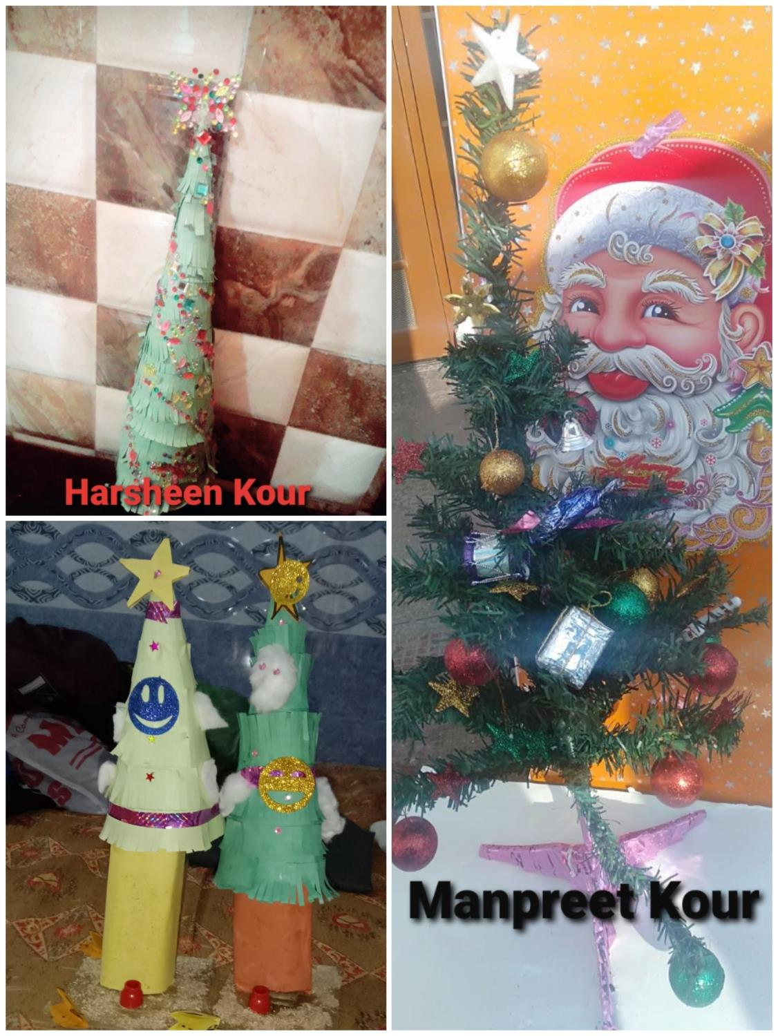 Online Tree Decoration Competition on the occasion of Christmas Day for Class 4 and 5